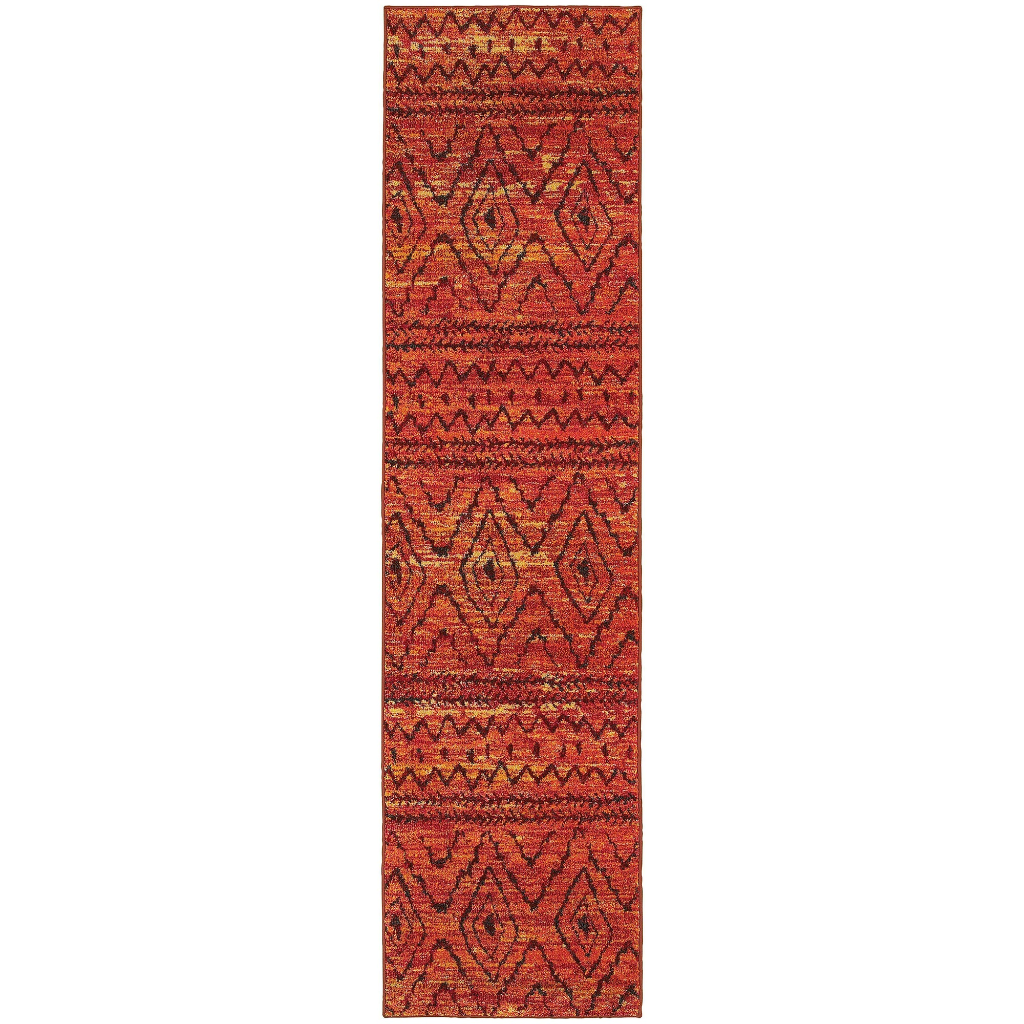 "Nomad - 8122O - Orange/Red-Area Rug-Oriental Weavers-4' 0"" X 5' 9""-The Rug Truck"