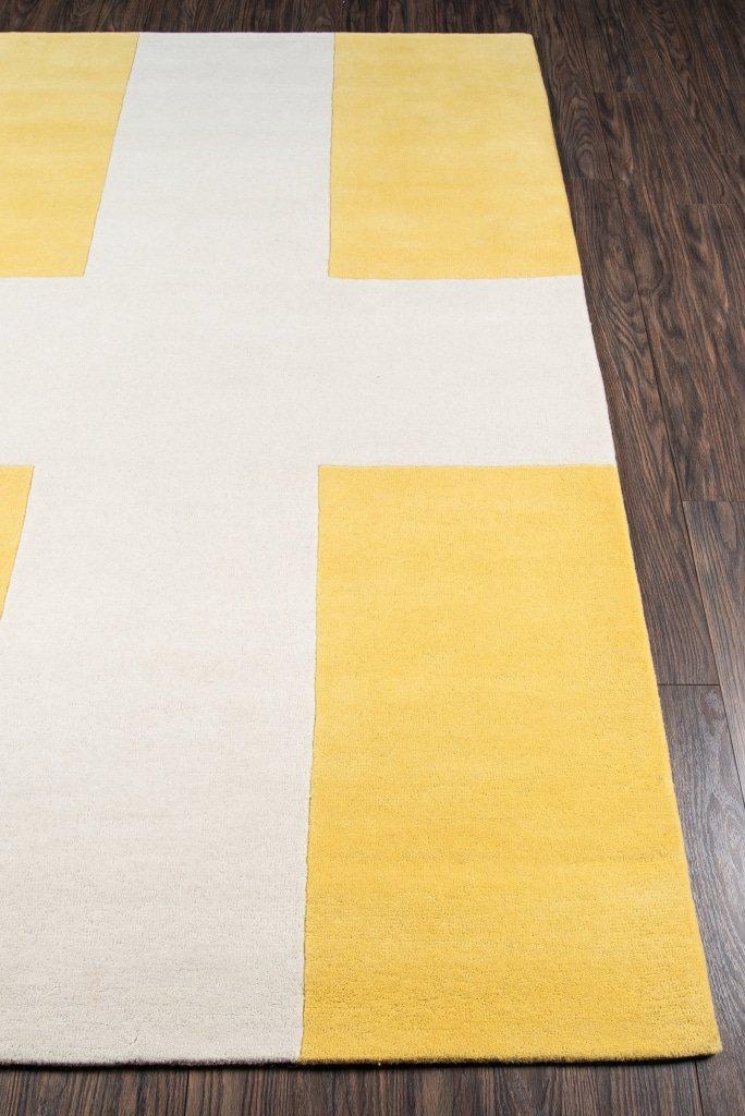 Novogratz By Momeni Delmar Del-7 Chevalier Yellow Area Rug 23 X 8 Runner
