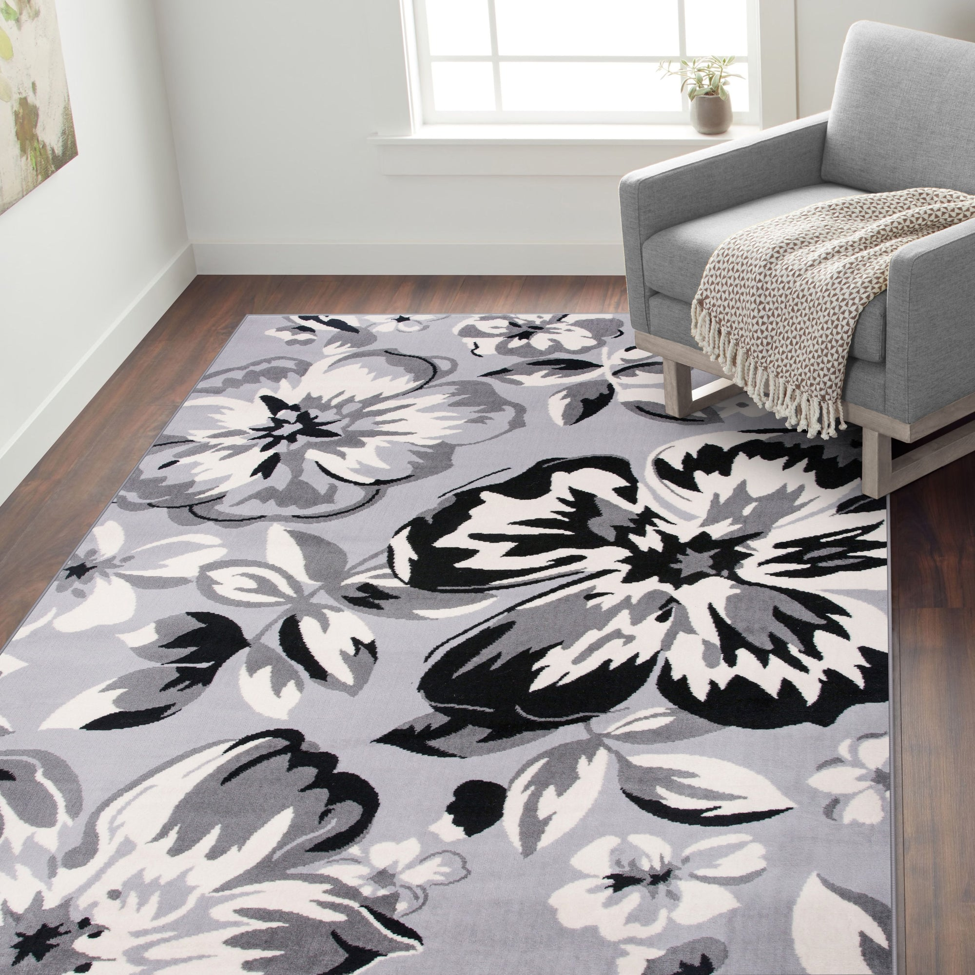 Newport 9098 Gray Area Rug 31 X 5