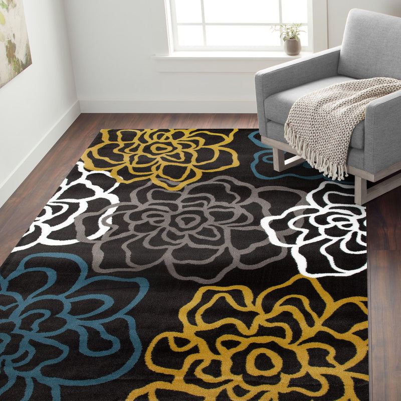 Alpine 108 Gray/Yellow Area Rug-Area Rug-World Rug Gallery-2' x 3'-The Rug Truck