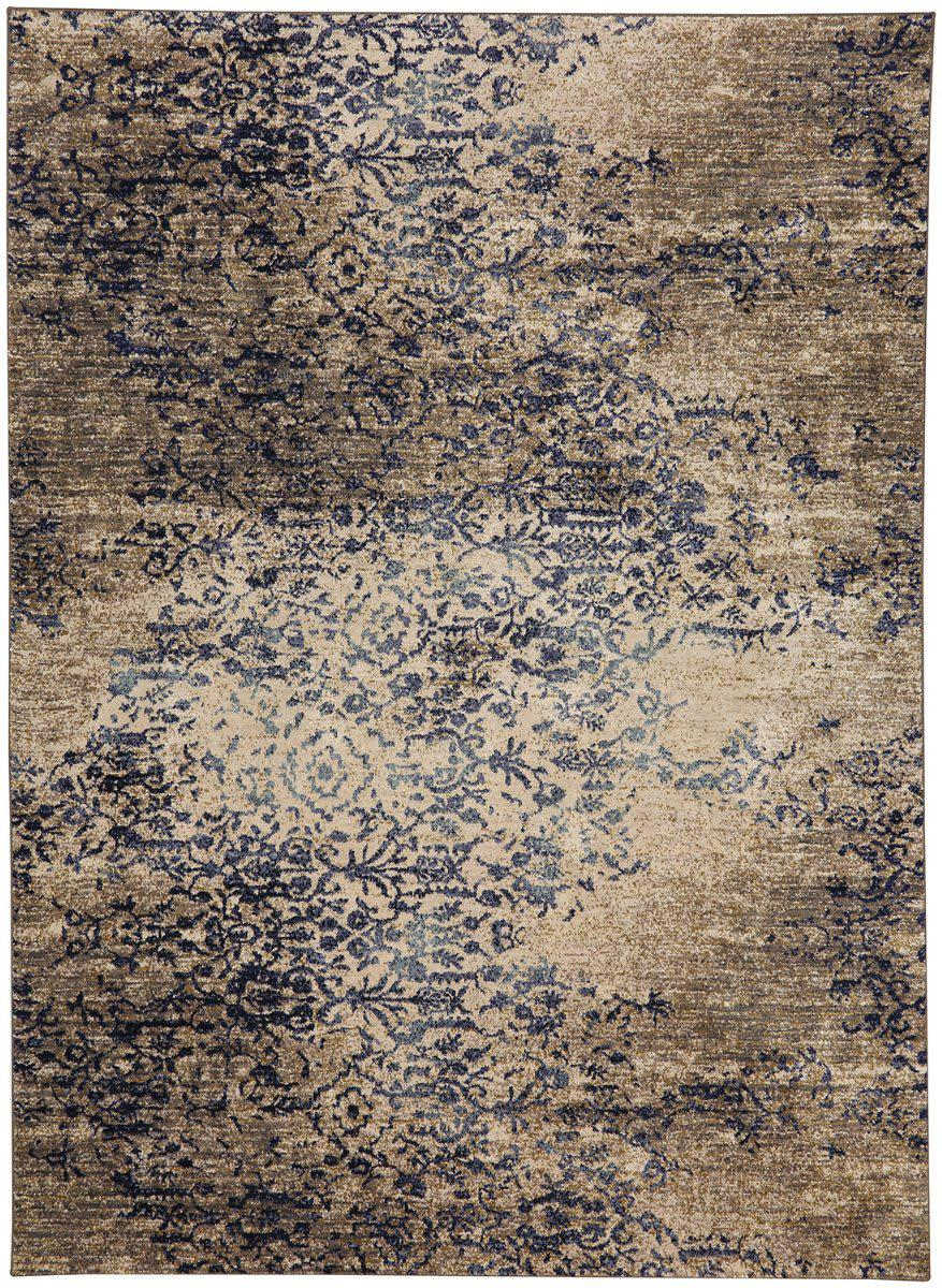 "Karastan Cosmopolitan Nirvana Indigo by Virginia Langley-Area Rug-Karastan-5' 3""x7' 10""-The Rug Truck"