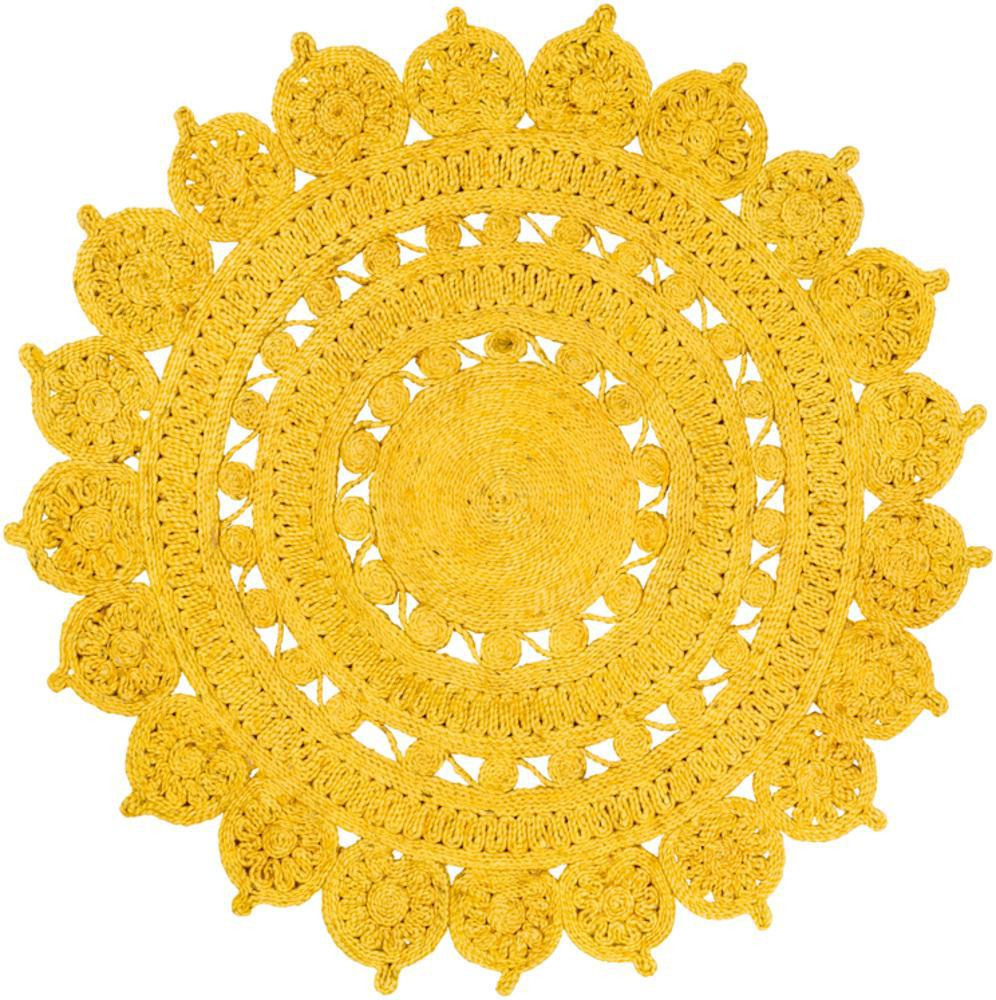Sonora Bright Yellow 8' Round Rug