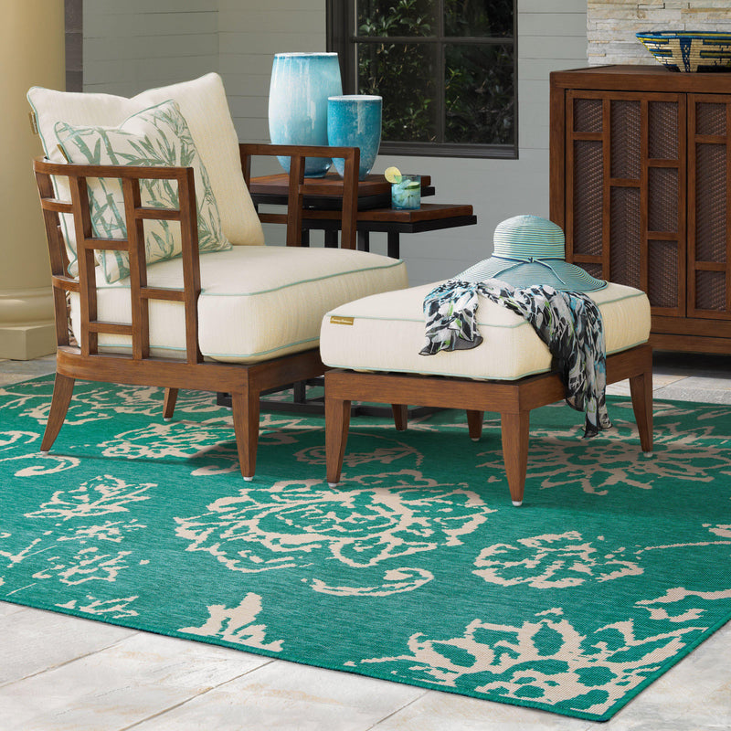 "Tommy Bahama Home Seaside 4922l Teal/Beige-Area Rug-Tommy Bahama Home-2' 5"" X 4' 5""-The Rug Truck"