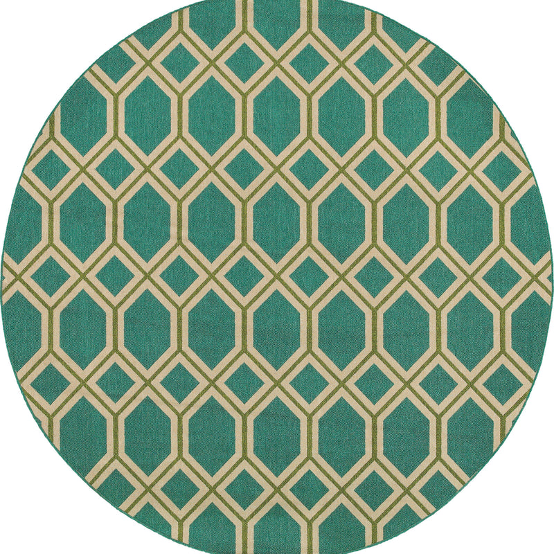 "Tommy Bahama Home Seaside 6660l Teal/Green-Area Rug-Tommy Bahama Home-2' 5"" X 4' 5""-The Rug Truck"