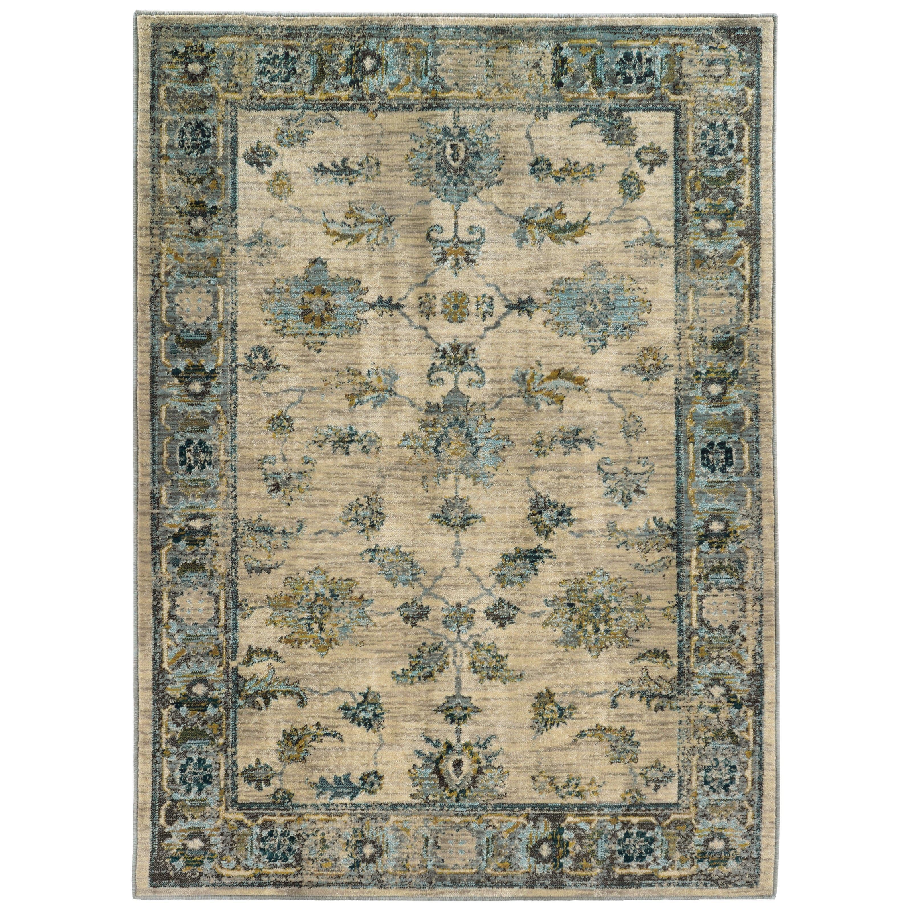 "Sedona - 5171C - Ivory/Blue-Area Rug-Oriental Weavers-1'10"" X 3' 0""-The Rug Truck"