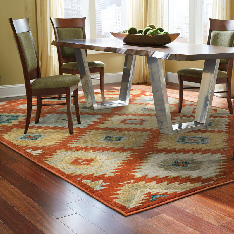 "Sedona - 5936D - Red/Multi-Area Rug-Oriental Weavers-1'10"" X 3' 0""-The Rug Truck"