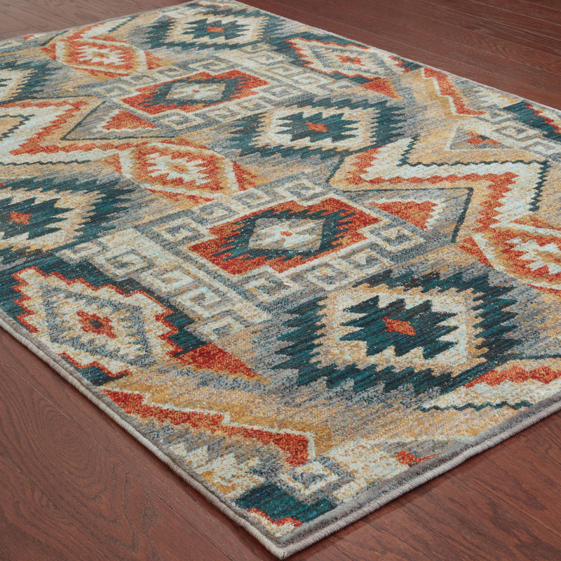 "Sedona - 5937D - Blue/Multi-Area Rug-Oriental Weavers-1'10"" X 3' 0""-The Rug Truck"