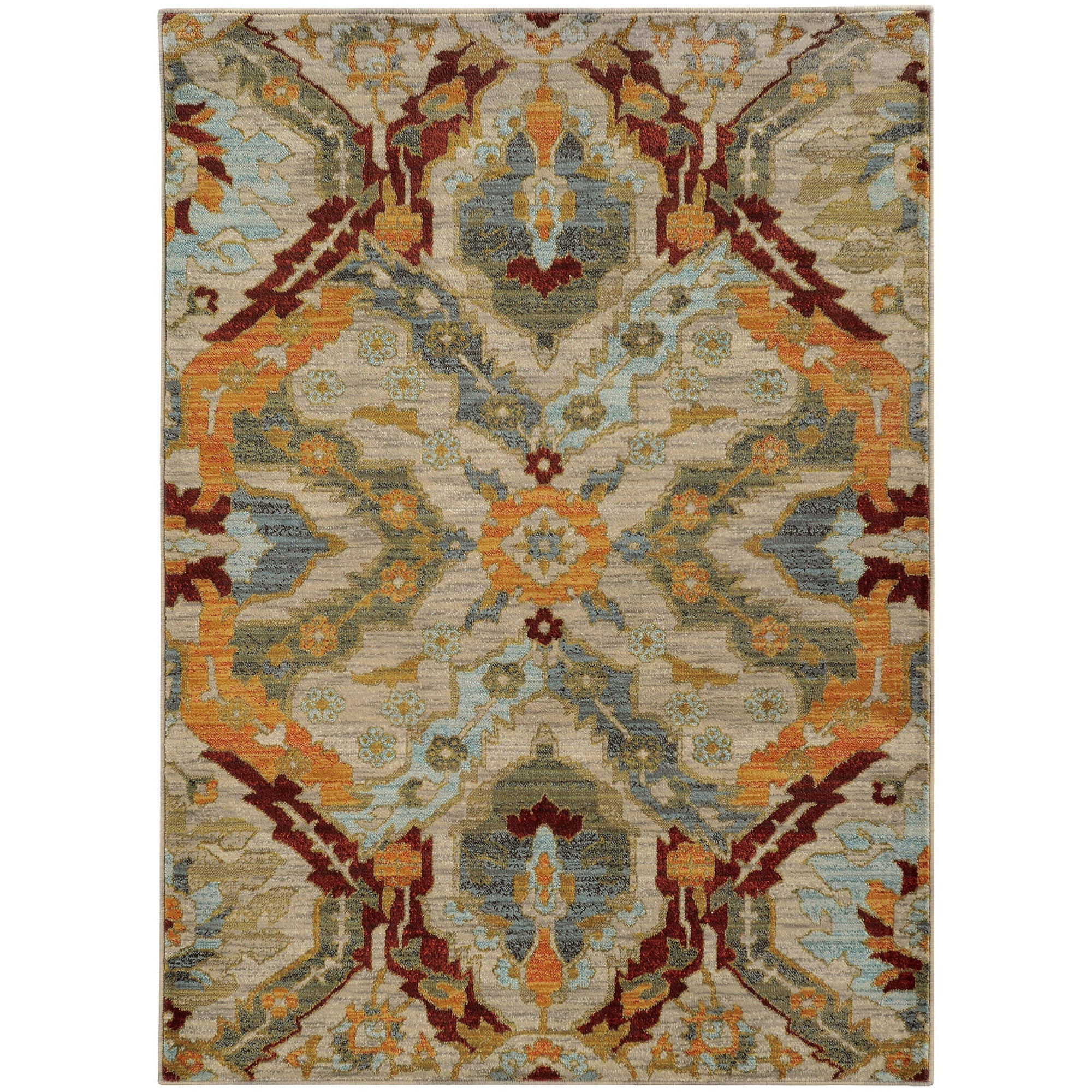 "Sedona - 6357A - Beige/Orange-Area Rug-Oriental Weavers-1'10"" X 3' 0""-The Rug Truck"