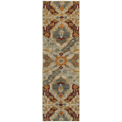 Sedona - 6357A - Beige/Orange-Area Rug-Oriental Weavers-The Rug Truck
