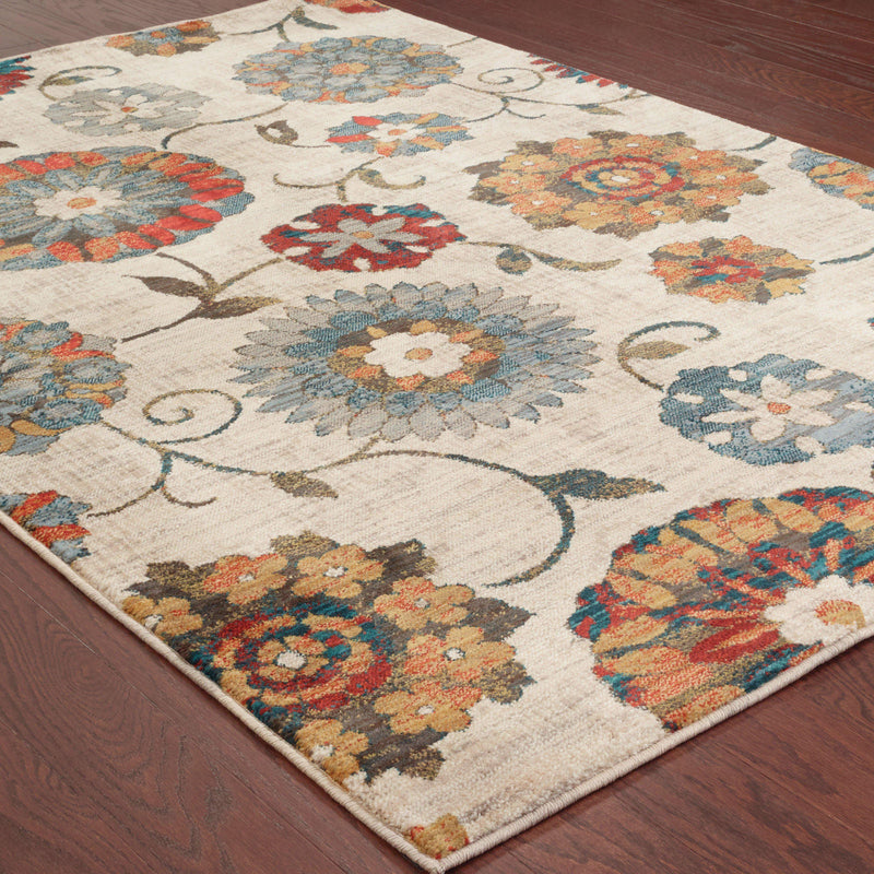 "Sedona - 6361A - Ivory/Multi-Area Rug-Oriental Weavers-1'10"" X 3' 0""-The Rug Truck"