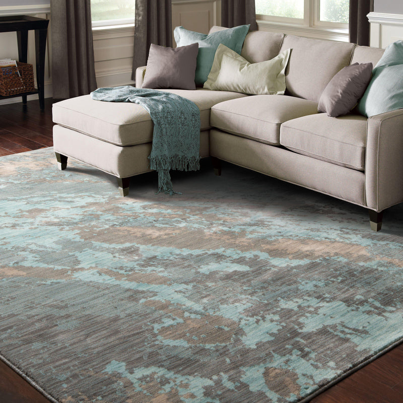 "Sedona - 6367A - Blue/Grey-Area Rug-Oriental Weavers-1'10"" X 3' 0""-The Rug Truck"