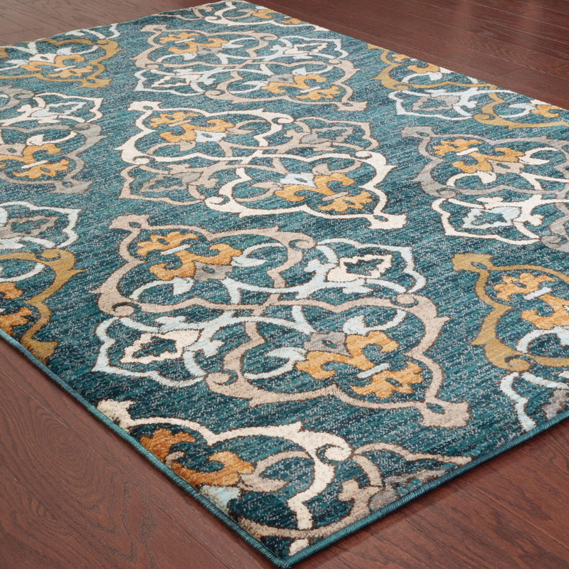 "Sedona - 6368B - Blue/Gold-Area Rug-Oriental Weavers-1'10"" X 3' 0""-The Rug Truck"