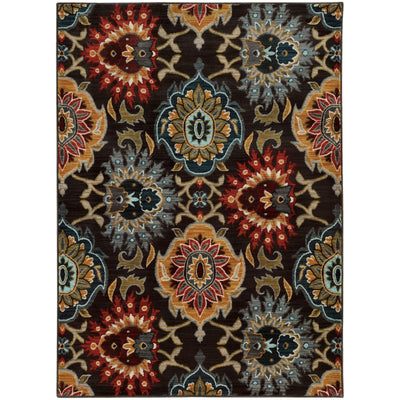 "Sedona - 6369D - Charcoal/Multi-Area Rug-Oriental Weavers-1'10"" X 3' 0""-The Rug Truck"