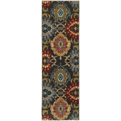 Sedona - 6369D - Charcoal/Multi-Area Rug-Oriental Weavers-The Rug Truck