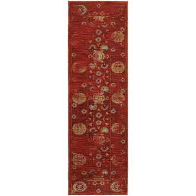 Sedona - 6386E - Red/Gold-Area Rug-Oriental Weavers-The Rug Truck