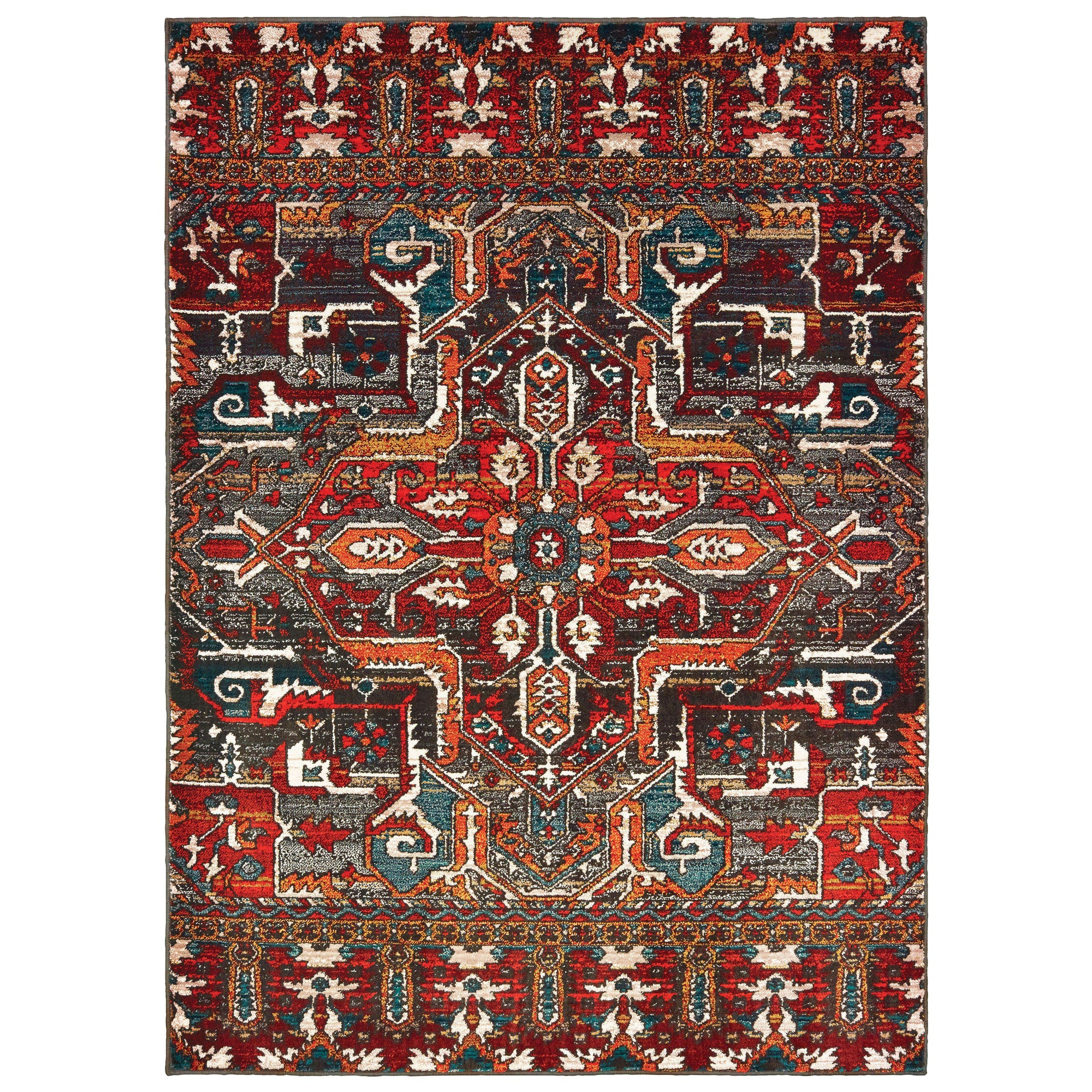 "Sedona - 9575A - Red/Orange-Area Rug-Oriental Weavers-1'10"" X 3' 0""-The Rug Truck"