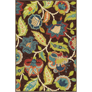 "Alfresco Ethridge Brown-Area Rug-The Rug Truck-3'10"" x 5'5""-The Rug Truck"