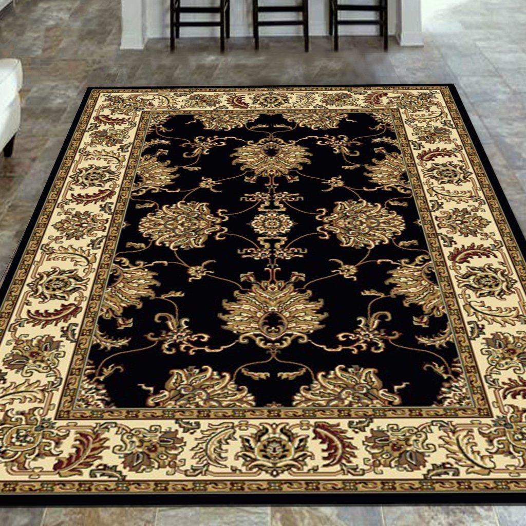 Tesoro 1330 Black Area Rug 33 X 54