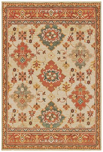 "Toscana - 9570A - Ivory/Orange-Area Rug-Oriental Weavers-1'10"" X 3'-The Rug Truck"