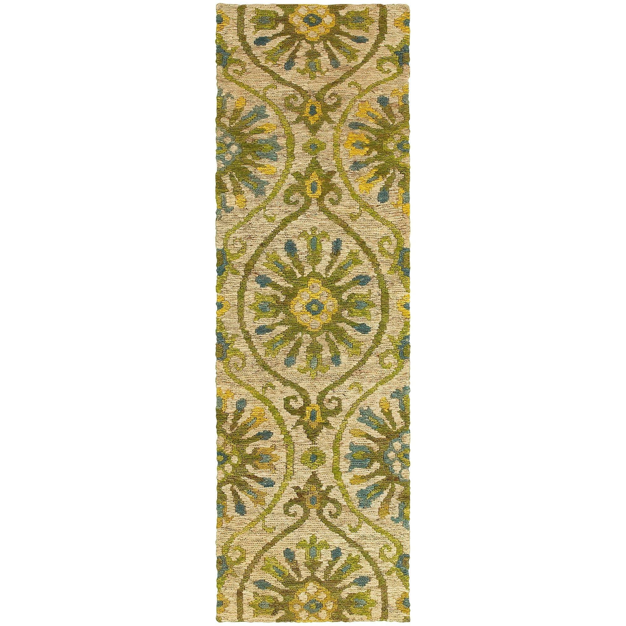 "Tommy Bahama Home Valencia 57701 Beige/Green-Area Rug-Tommy Bahama Home-3' 6"" X 5' 6""-The Rug Truck"