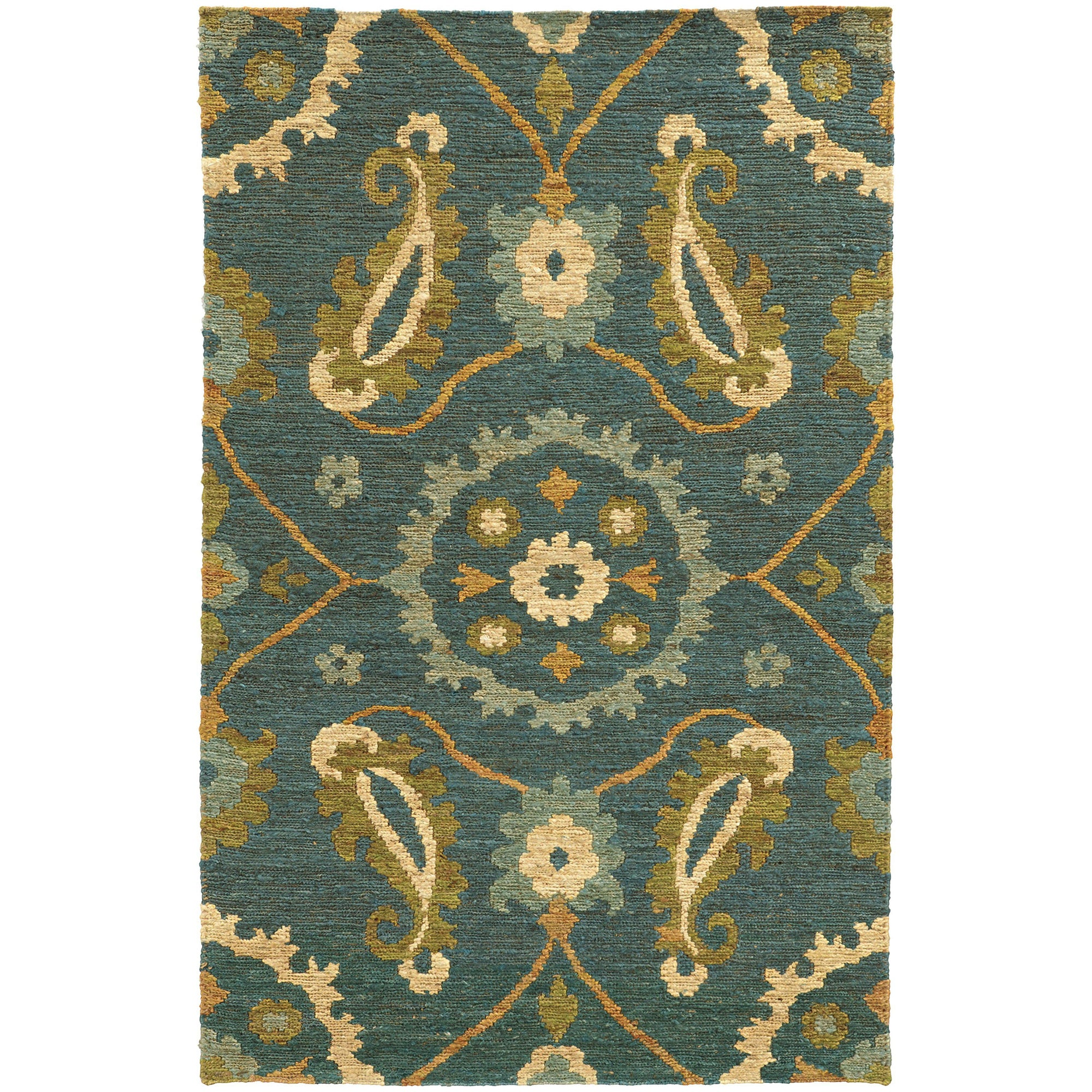 "Tommy Bahama Home Valencia 57702 Blue/Green-Area Rug-Tommy Bahama Home-3' 6"" X 5' 6""-The Rug Truck"
