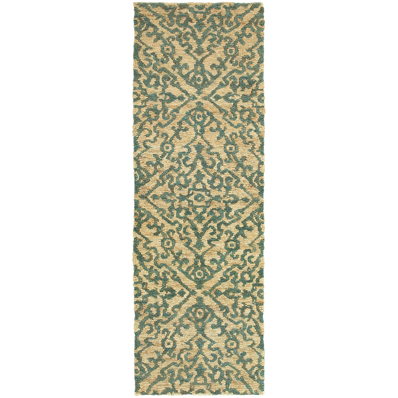 "Tommy Bahama Home Valencia 57703 Beige/Blue-Area Rug-Tommy Bahama Home-3' 6"" X 5' 6""-The Rug Truck"