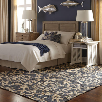 Tommy Bahama Home Valencia 57704 Navy/Beige-Area Rug-Tommy Bahama Home-The Rug Truck