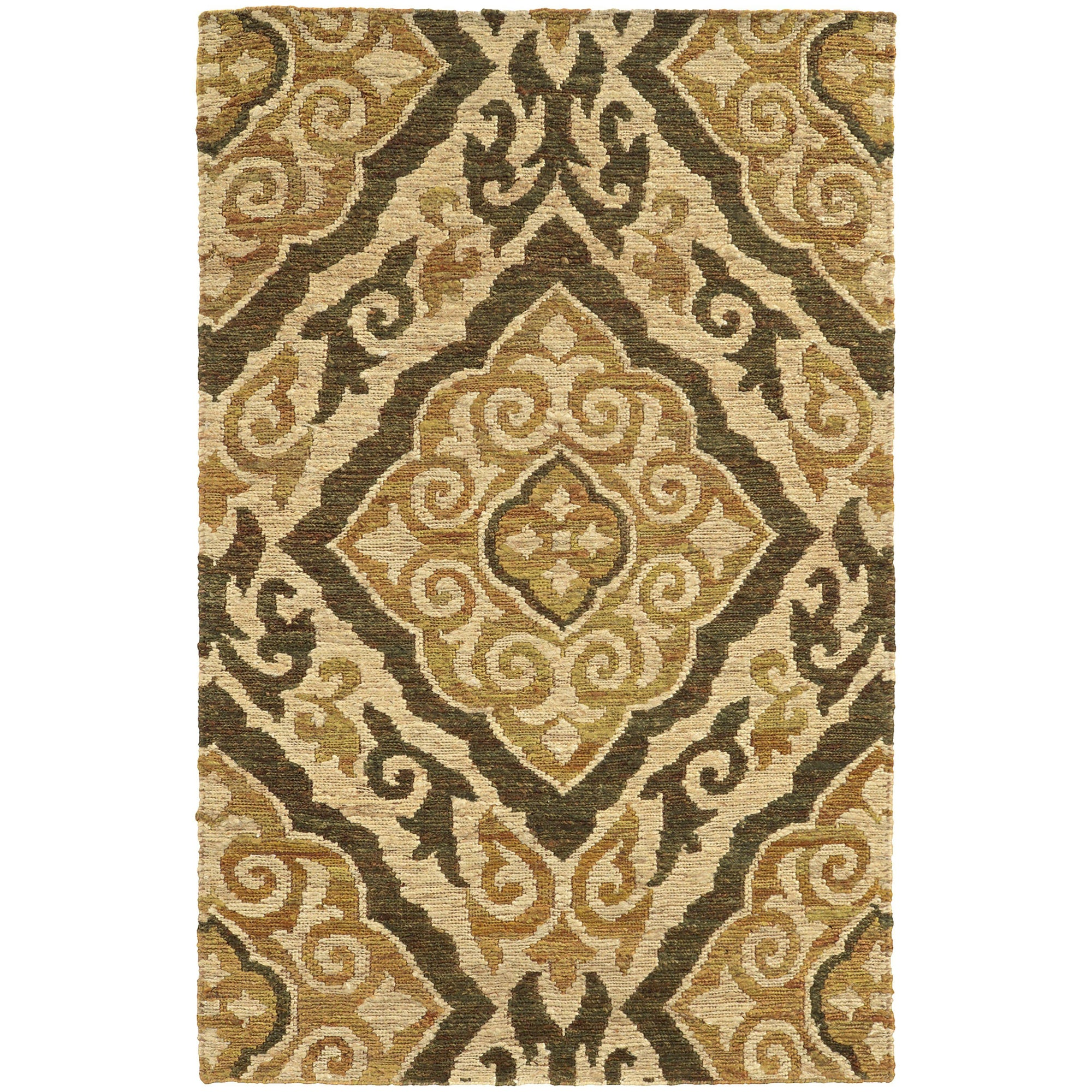"Tommy Bahama Home Valencia 57705 Beige/Gold-Area Rug-Tommy Bahama Home-3' 6"" X 5' 6""-The Rug Truck"