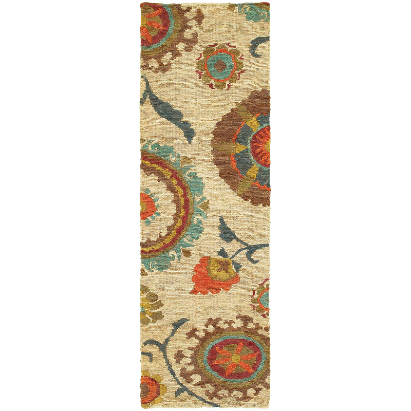 "Tommy Bahama Home Valencia 57710 Beige/Multi-Area Rug-Tommy Bahama Home-3' 6"" X 5' 6""-The Rug Truck"