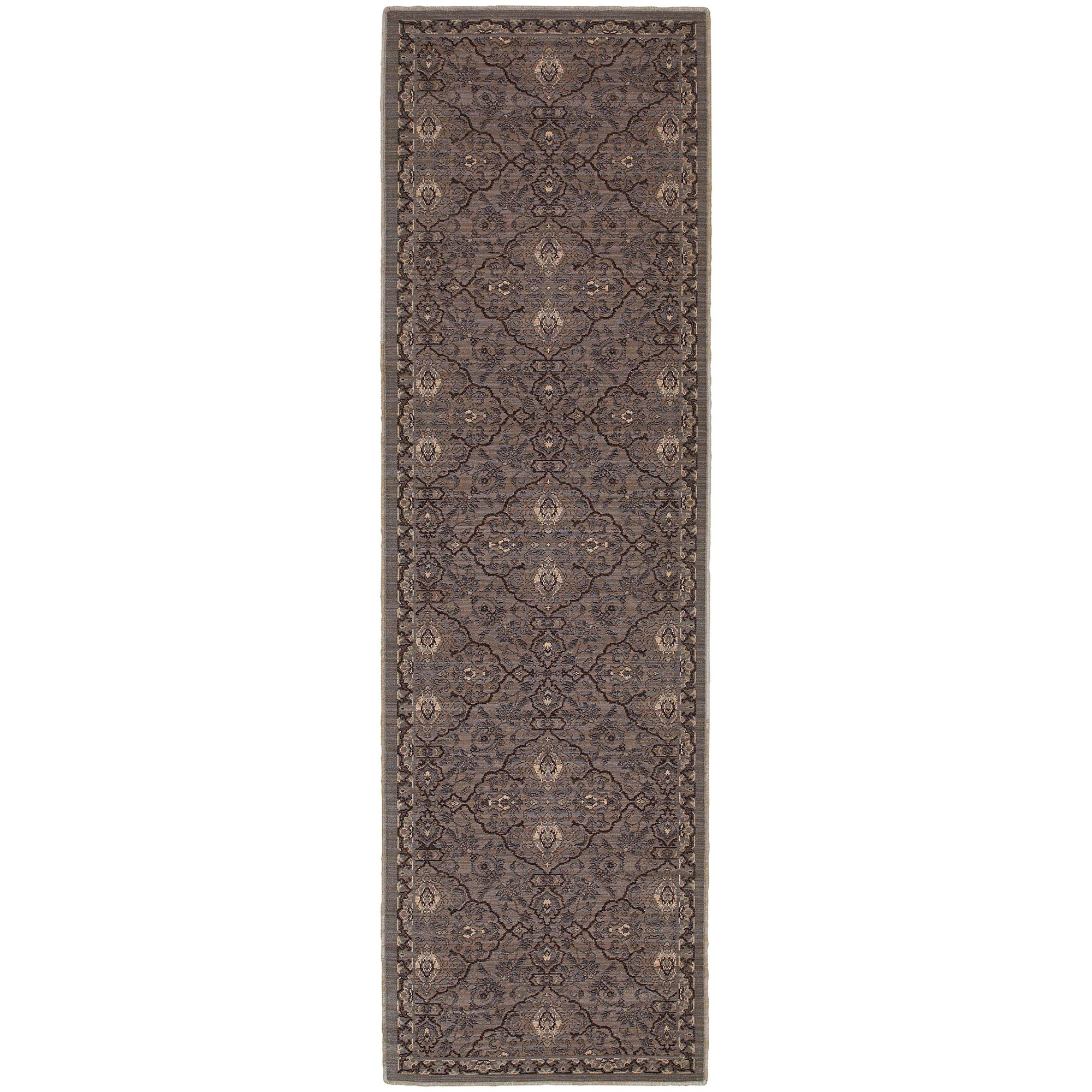 "Tommy Bahama Home Vintage 5509d Brown/Blue-Area Rug-Tommy Bahama Home-1'10"" X 3' 3""-The Rug Truck"
