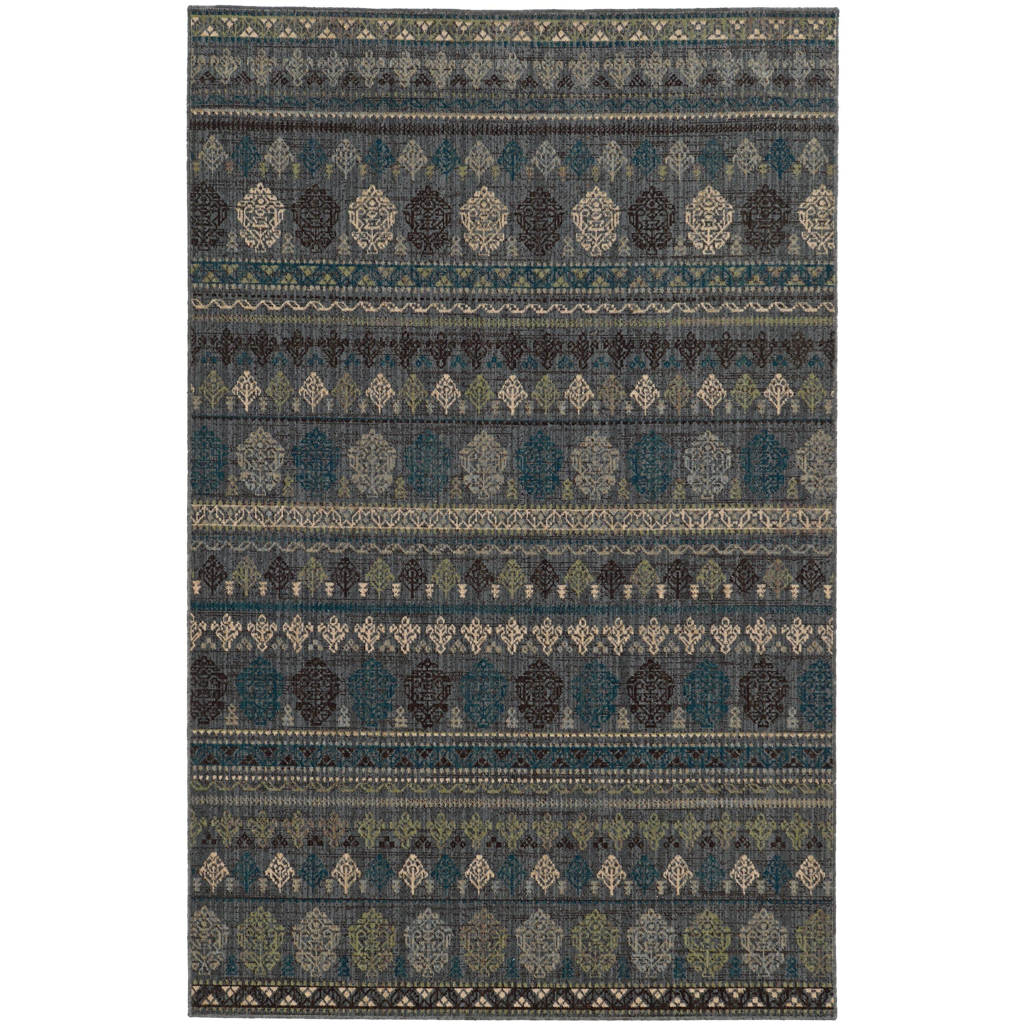 "Tommy Bahama Home Vintage 591e Blue/Blue-Area Rug-Tommy Bahama Home-1'10"" X 3' 3""-The Rug Truck"
