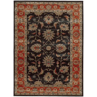 "Tommy Bahama Home Vintage 634n Brown/Rust-Area Rug-Tommy Bahama Home-1'10"" X 3' 3""-The Rug Truck"