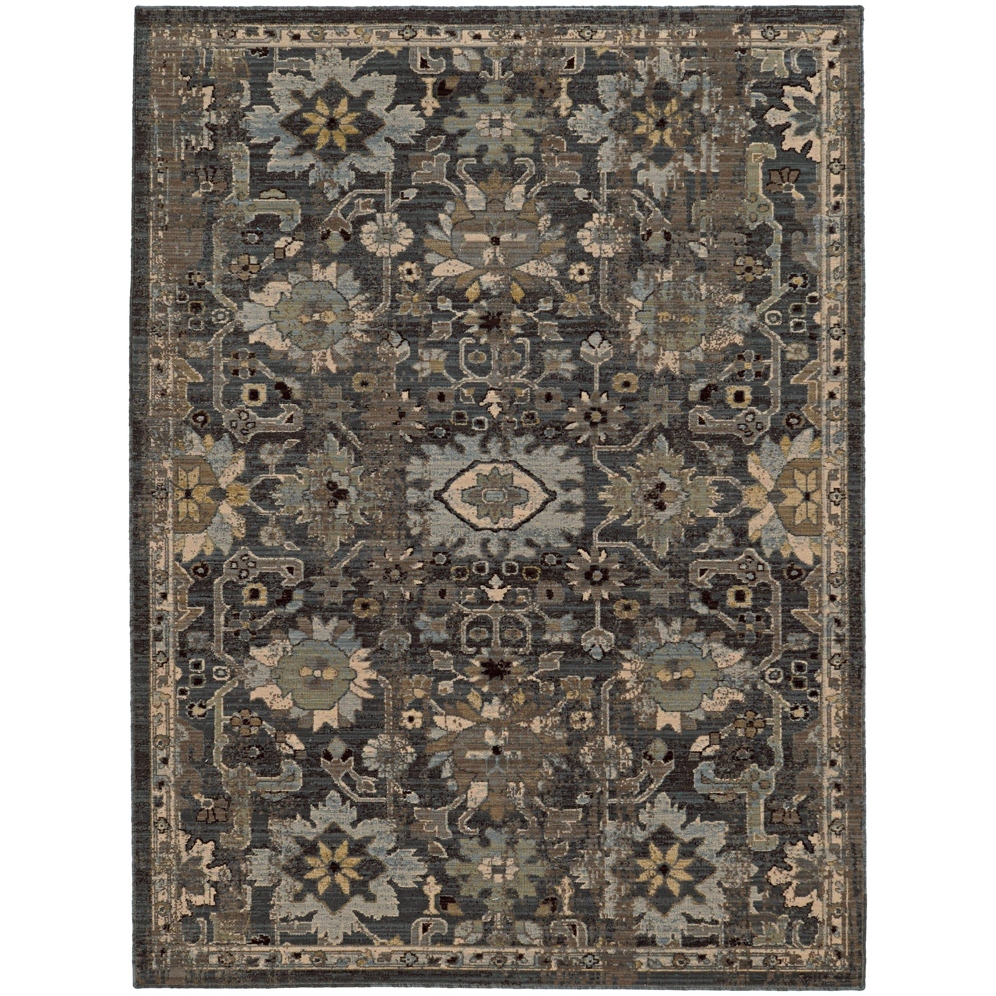 "Tommy Bahama Home Vintage 668n Blue/Grey-Area Rug-Tommy Bahama Home-1'10"" X 3' 3""-The Rug Truck"