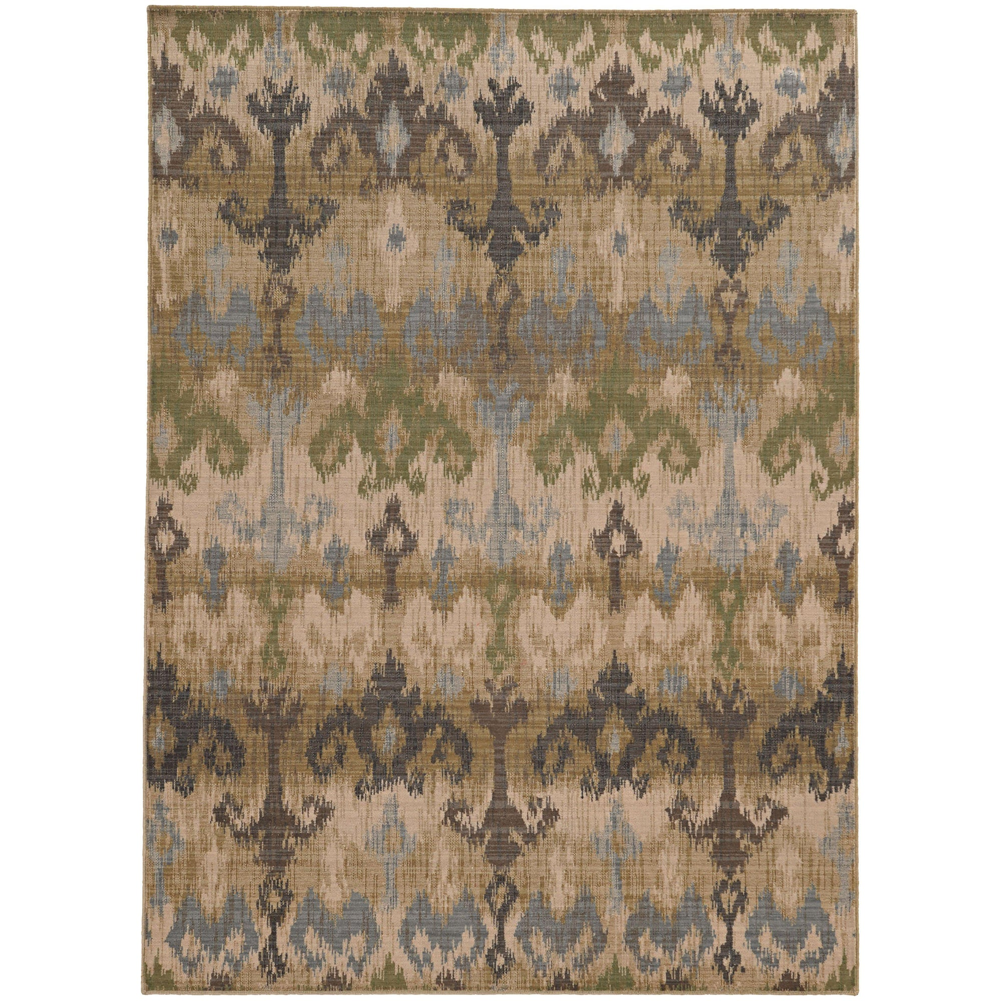 "Tommy Bahama Home Vintage 8122w Beige/Blue-Area Rug-Tommy Bahama Home-1'10"" X 3' 3""-The Rug Truck"