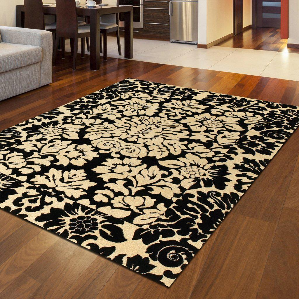 Vozza 1717 Black Area Rug 33 X 411