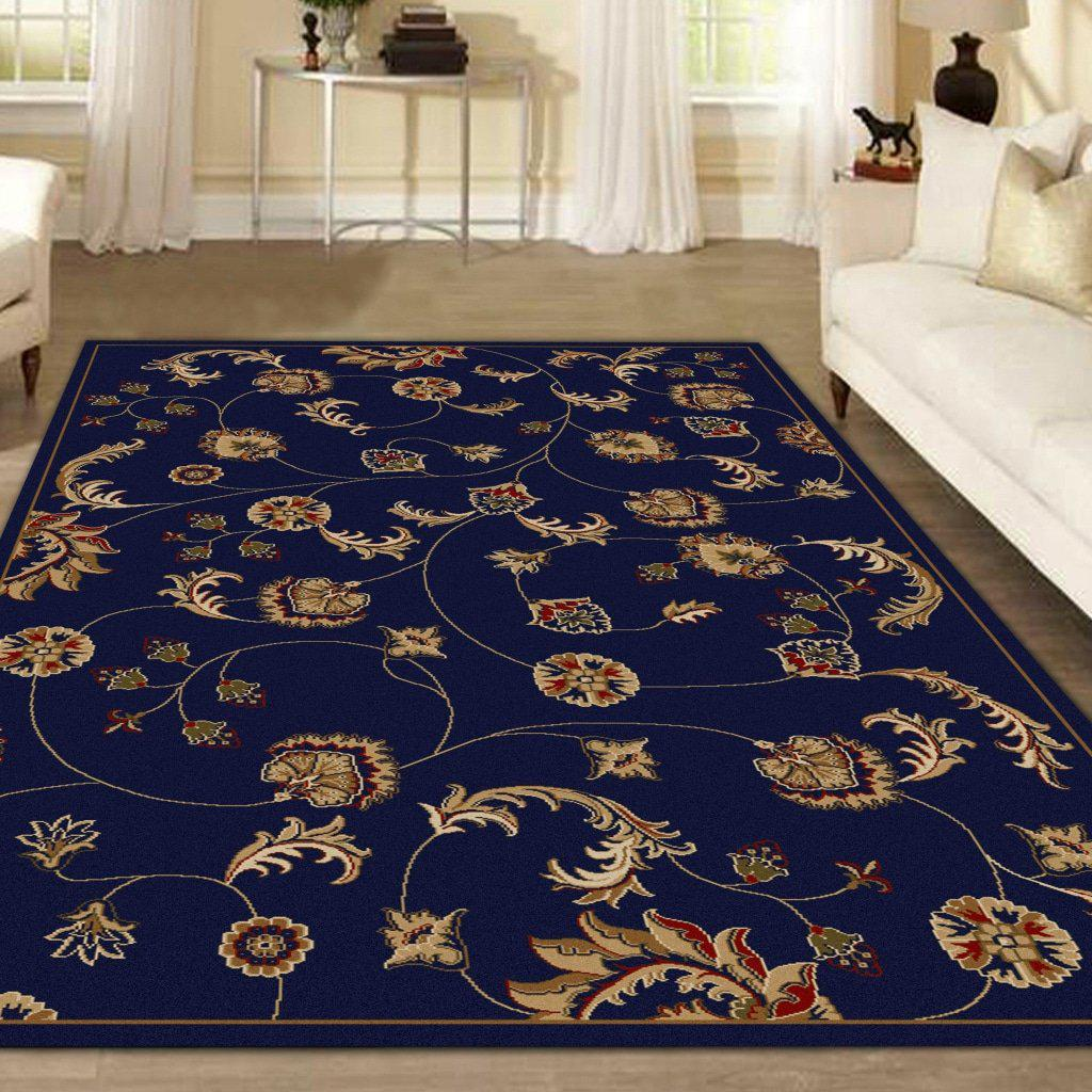 Vozza 1835 Navy Area Rug 33 X 411
