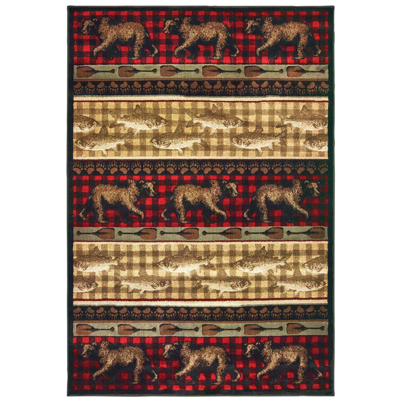 "Tahoe 9594b Red Area Rug (7'10"" X 10')"