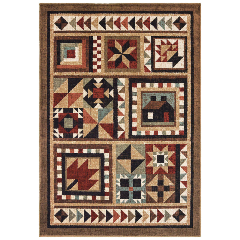 "Tahoe 9596a Brown Area Rug (7'10"" X 10')"