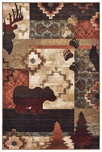 "Tahoe 9649a Brown Area Rug (7'10"" X 10')"