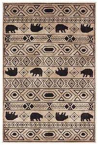 "Woodlands - 9651A - Ivory/Black-Area Rug-Oriental Weavers-1'10"" X 3'-The Rug Truck"