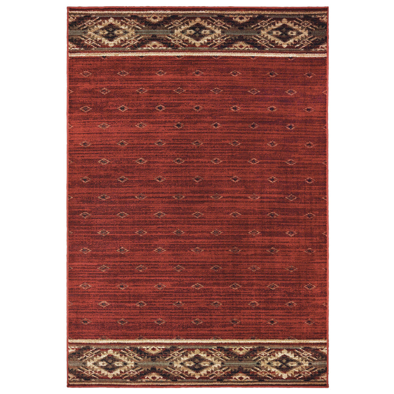 "Tahoe 9652c Red Area Rug (7'10"" X 10')"