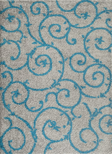 "Florida 2323 Turquoise Area Rug-Area Rug-World Rug Gallery-3'3"" x 5'-The Rug Truck"