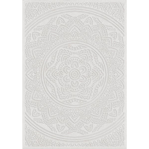 "Roundtop Mandala Natural-Area Rug-The Rug Truck-5'1"" x 7'6""-The Rug Truck"