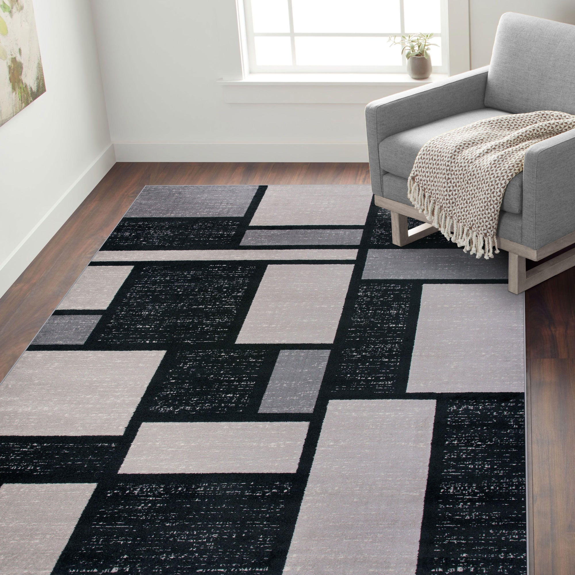 Toscana 308 Gray Area Rug-Area Rug-World Rug Gallery-2' x 3'-The Rug Truck
