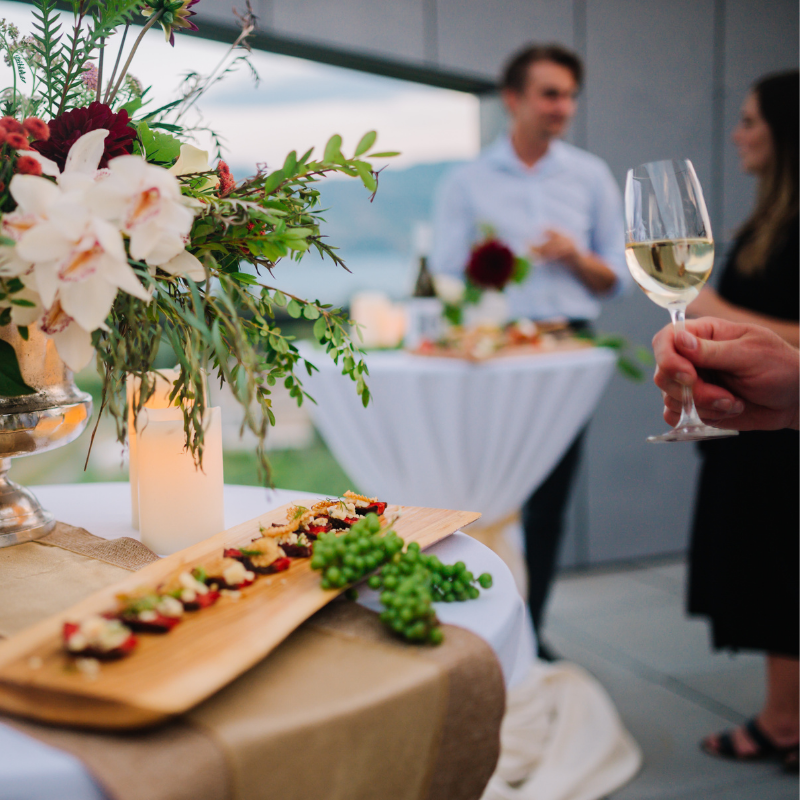 Canapes at Winery Event