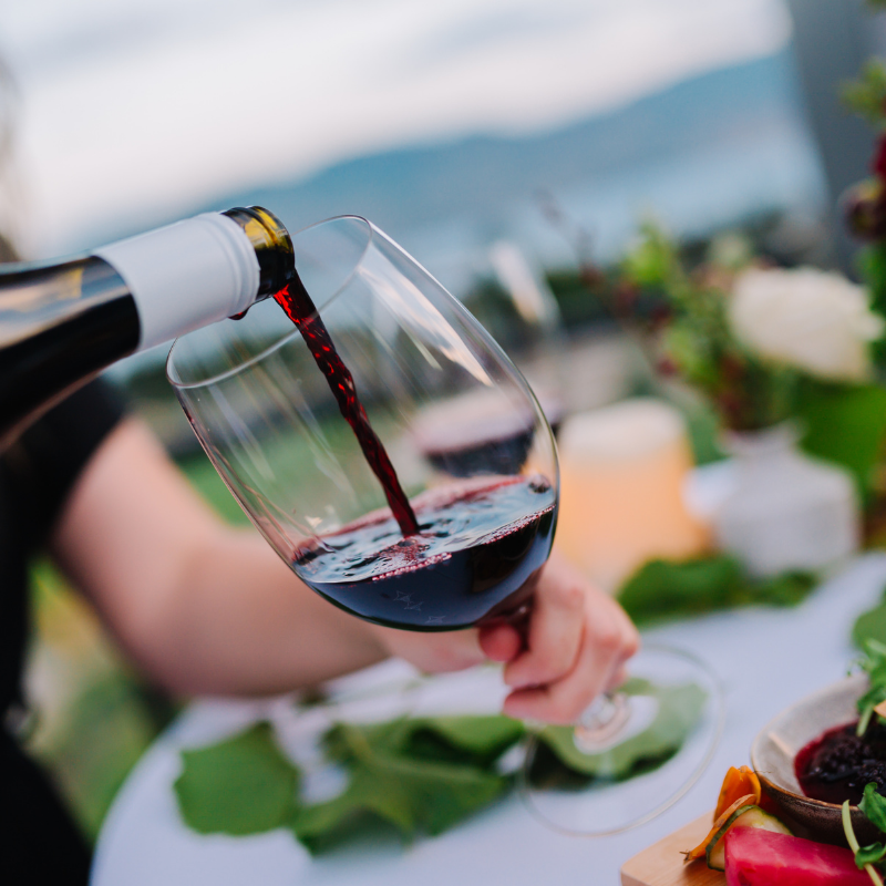 Wine Pouring at Event at West Kelowna Winery