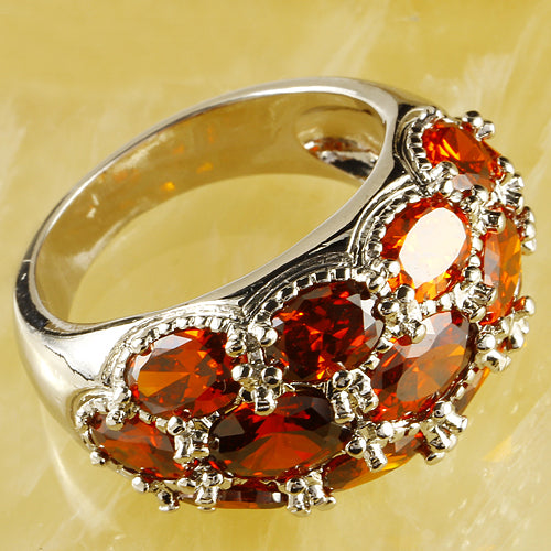 Garnet Silver Ring Noble Women1