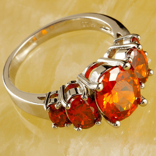 Garnet  Sterling Silver Red Ring2