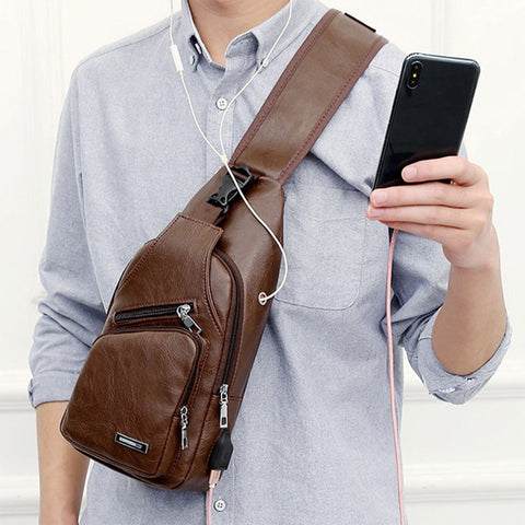 Man Cross-Chest Bag with phone