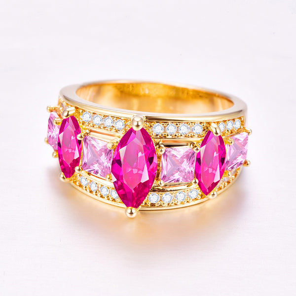 Marquise Cut Yellow & Red Zircon1